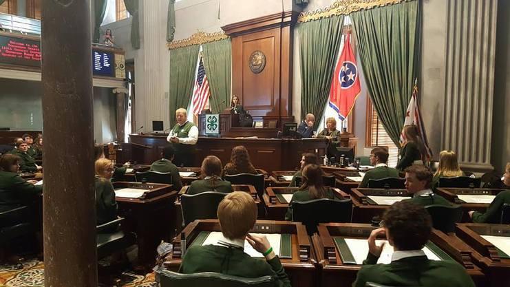 State Senate at 2017 4-H Congress